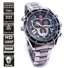 Waterproof 12MP HD 1080P Night Vision Spy Watch Camea Camcorder Covert CCTV 16GB