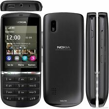 Nokia Asha 300 Graphite 5MP Tocuh & Type 3G Unlocked Phone Good Condition