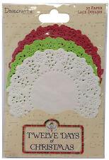 """Dovecraft paquete de 30 tapetes de Color """"de 12 días de Navidad"""""""