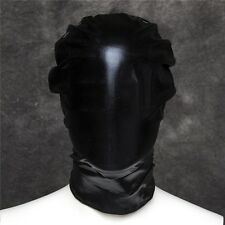 PVC Wet Leather Look Full Head Hood Fetish Bondage Restraint Mask Blindfold