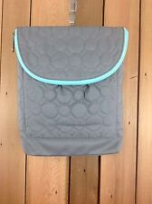 "Thirty-One ""Vary You"" Backpack/Purse ~Gray Quilted Dots ~ NO STRAP"