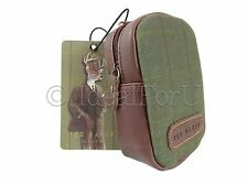 TED BAKER NEW Wild & Wolf Stag Digital Camera Gadget Case Green Tweed Brown