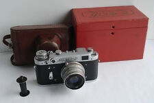 FED 2 USSR Russian Leica copy Camera + Industar 26M lens #722916