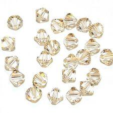 SCB5126f LIGHT SILK 6mm Faceted Xilion Bicone Swarovski Crystal Beads 24/pkg