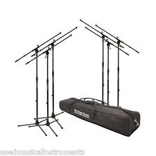 On-Stage MSP7706 6 Euroboom Mic Microphone Stand Bundle Stands Pack w/ Bag NEW