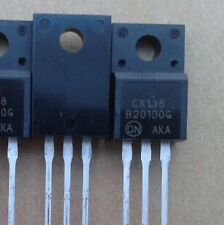 4pcs MBRF20100CT B20100G 2X10A 100V TO-220 Schottky Diode