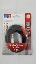 GE 73216 Audio/Video RCA Cable (6ft) for TV DVD VCR Receivers and DVR