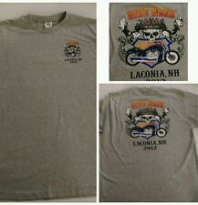 Bike week Laconia New Hampshire grey. t shirt size large 100% cotton 2012  (a13)