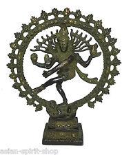 Feiner tanzender Shiva aus Messing 29 cm ca. 2,2 KG Hinduismus Indien Gott Antik