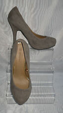 "ATMOSPHERE Brown Faux Suede Slim High Heel 4.5"" Court Shoes Size:5/38"