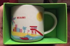 Miami You Are Here (YAH) 14 Oz. Starbucks Mug. Original and NWT NIB