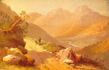 LANGDALE LAKE DISTRICT REPRODUCTION PEINTURE THOMAS ROWBOTHAM