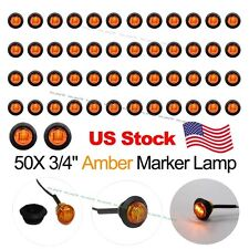 "50 3/4"" Amber 12V LED Clearance Marker Bullet Truck Trailer Lights Lamp US Stock"