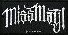 MISS MAY I -  Aufnäher *LOGO* - Patch Gewebt Metalcore 10 x 5,5 cm