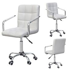 Office Executive Home Dining Swivel Armrest Chair Computer Desk White Modern