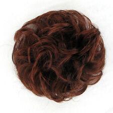 chouchou peruk cheveux châtain foncé cuivré intense ref: 17 en 322