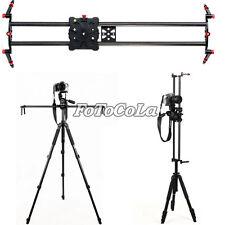 """100cm/40"""" DSLR Camera Carbon Fiber Slider Dolly Track Video Stabilizer Rail+Case"""
