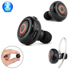 New Black Wireless Stereo Bluetooth Earphone Headphone For Mobile Phones Mini