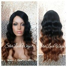 Body Wave Ombre Lace Front Wig Wavy Mixed Highlights Heat Safe Ok Color #1 #30