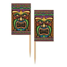 Tiki Luau Party Food Picks Beach Party Appetizer Food Pick Pack Of 50