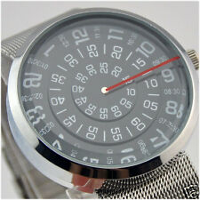 Mens Watches Compass Design Stainless Steel Band Fashion Quartz Wrist Watch Gift
