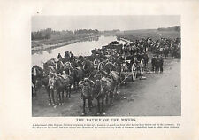 1918 WW1 WORLD WAR I PRINT ~ BATTLE OF THE RIVERS BELGIAN ARTILLERY ANTWERP