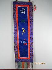Original aus Tibet: Wandbehang Buddha Thangka alte Seide Brokat Stickerei   98cm