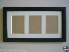 NEW Black wooden ACEO Art card 3.5 x 2.5 Ivory mount picture  frame
