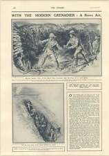 1917 Private Lauder Smothers Bomb With Foot Castle Of Ham Destroyed