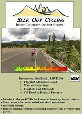 Indoor Cycling's BEST VALUE! 4 virtual rides in Boulder CO, 4 DVDs Brand New