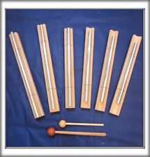 6 Sacred Solfeggio Energy Bar Chimes upto 22 inch long louder than tuning forks