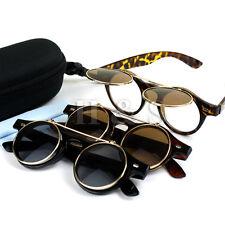 Levante Steampunk Gafas De Sol 50s Redondo Gafas Lentes Cyber Retro Vintage Estilo