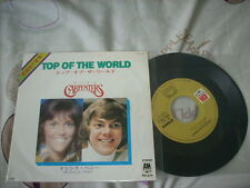 "a941981 Carpenters Japan 7"" Top of the World AM199 The One with Their Photos Next to One Another"