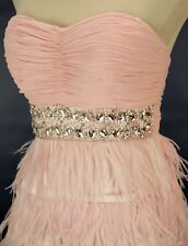 Alex & Sopkia USA Grand $220 Blush Evening Prom Formal Short Cruise Dress size 3
