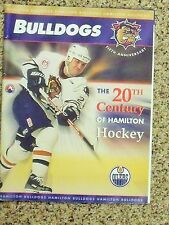 2000-01 Hamilton Bulldogs 5th anniversary season (AHL) [Edmonton] hockey program
