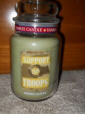 New Yankee Candle 22 oz Large Jar Support Our Troops - Hidden Leaves