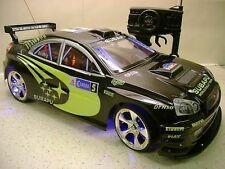 BLACK Subaru Impreza style Radio Remote Control Car 20MPH 1:10 Scale RC function