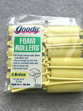 12 x GOODY FOAM HAIR ROLLERS- For hair up to 6 inches long (UK SELLER)