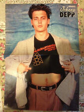 JOHNNY DEPP / SYLVESTER STALLONE - DOUBLE-SIDED POSTER FROM BRAVO MAGAZINE