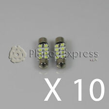 10 x Lampadine 8 LED SMD C5W Festoon 36mm Matricula, interno... Bianco Xeno