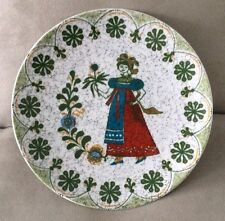 "Kurt Hammer Germany porcelain Bavarian folk art 8"" decorative wall plate 1970's"