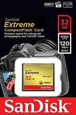 SanDisk Extreme CF 32GB 120MB/s UDMA 7 800X Full HD Compact Flash Memory Card