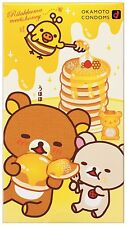 "Okamoto Rilakkuma Honey Flavor ""Love Love Hot"" Condoms 10 pcs New Japan"