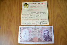 BANCONOTA LIRE 10000 MICHELANGELO SERIE SOSTITUTIVA W 1962 certificata BB+ RARA