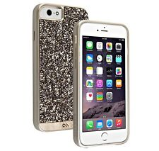 Authentic Case-Mate Brilliance Crystal & Leather Case iPhone 6 6s -Champagne NEW