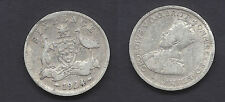 1924 AUSTRALIA  Silver Six Pence Coin (#D7073)