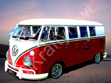 VW Campervan Photo Canvas 8 x 10 inches (UK)