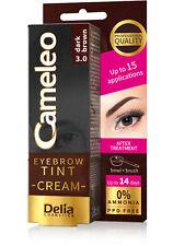 DELIA Cameleo Eyebrow Tint Kit Cream 15ml - Dark Brown - Up to 14 days