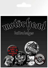 Motorhead Aces Badge Pack / Pin Set BRAND NEW