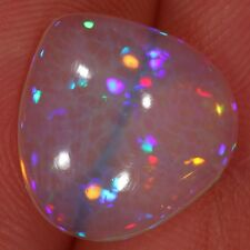 5.16ct Honeycomb Ethiopian Welo Opal Cabochon Water clean, purple lavender fire